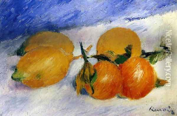 Still Life With Lemons And Oranges Oil Painting - Pierre Auguste Renoir
