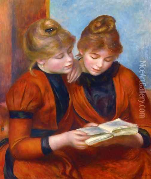 Two Sisters II Oil Painting - Pierre Auguste Renoir