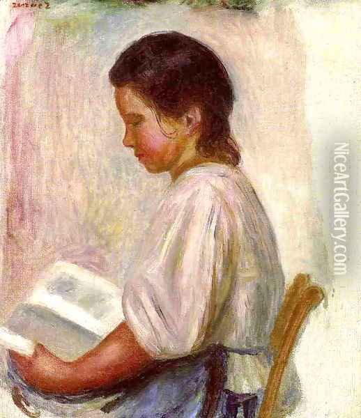 Young Girl Reading3 Oil Painting - Pierre Auguste Renoir
