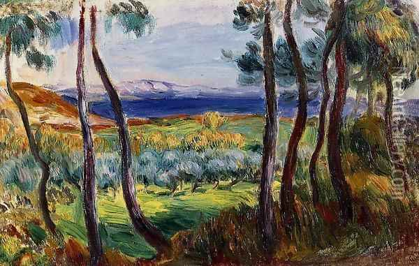 Pines In The Vicinity Of Cagnes Oil Painting - Pierre Auguste Renoir
