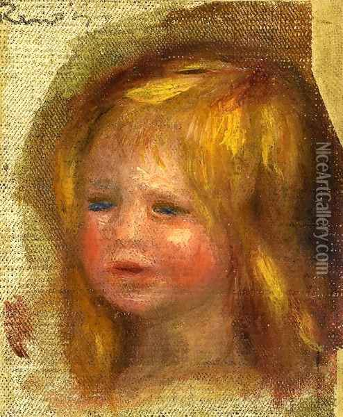Coco's Head Oil Painting - Pierre Auguste Renoir