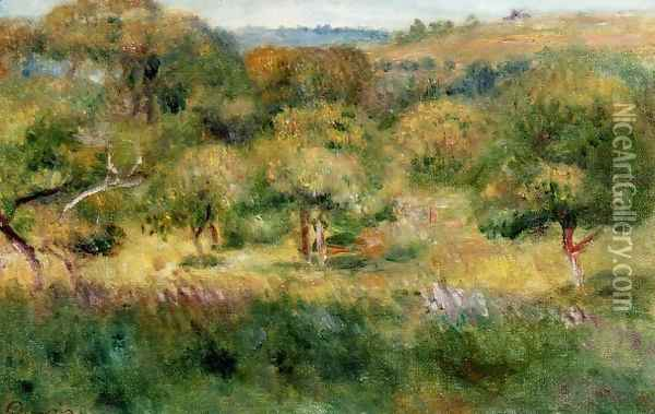 The Edge Of The Forest In Brittany Oil Painting - Pierre Auguste Renoir