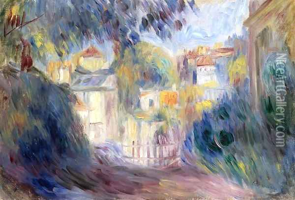 Landscape with Red Roofs Oil Painting - Pierre Auguste Renoir
