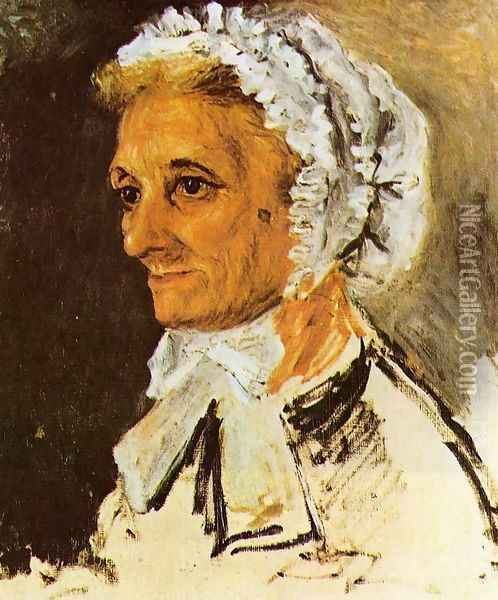 The Artists Mother Oil Painting - Pierre Auguste Renoir