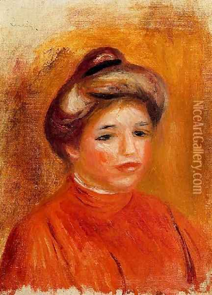Womans Head5 Oil Painting - Pierre Auguste Renoir