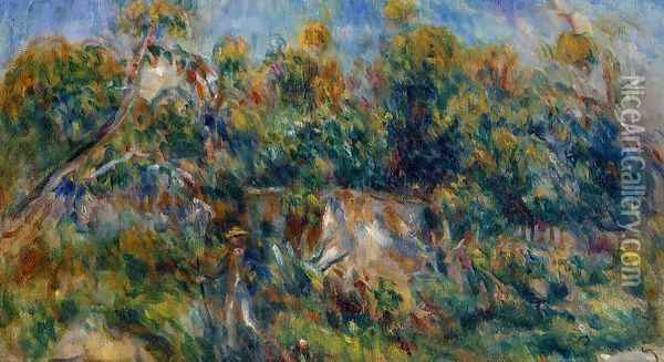 The Painter Taking A Stroll At Cagnes Oil Painting - Pierre Auguste Renoir