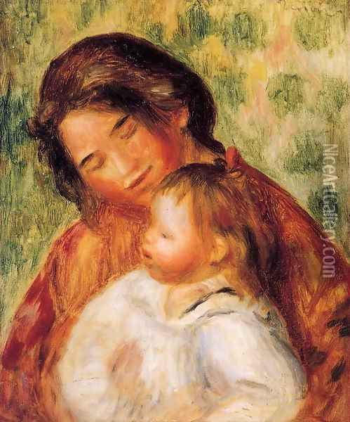 Woman And Child2 Oil Painting - Pierre Auguste Renoir