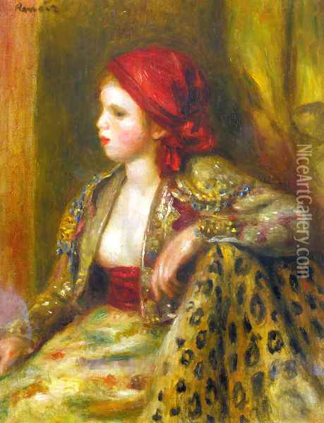 Odalisque Oil Painting - Pierre Auguste Renoir