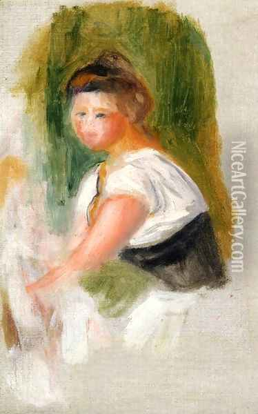 Young Woman Oil Painting - Pierre Auguste Renoir