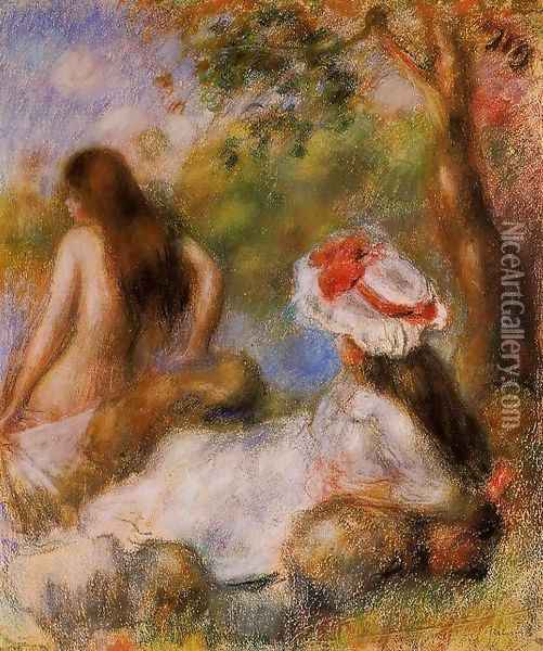 Bathers 2 2 Oil Painting - Pierre Auguste Renoir