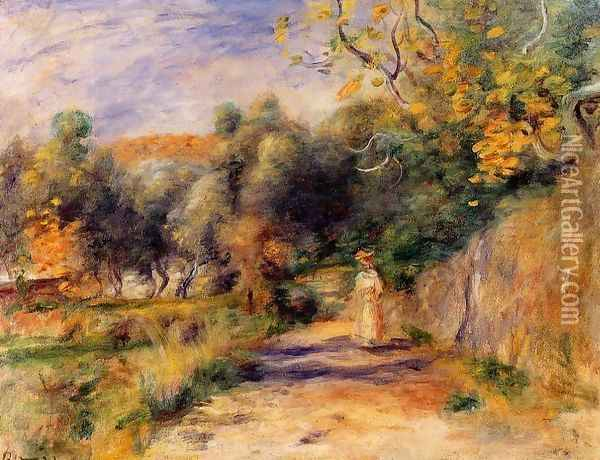 Landscape at Cagnes Oil Painting - Pierre Auguste Renoir