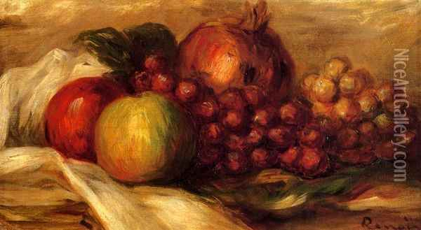 Still Life with Fruit III Oil Painting - Pierre Auguste Renoir