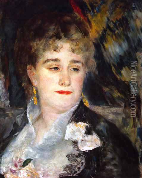 First Portrait of Madame Georges Charpentier Oil Painting - Pierre Auguste Renoir