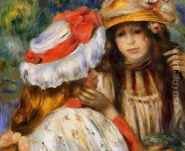 Two Sisters Oil Painting - Pierre Auguste Renoir