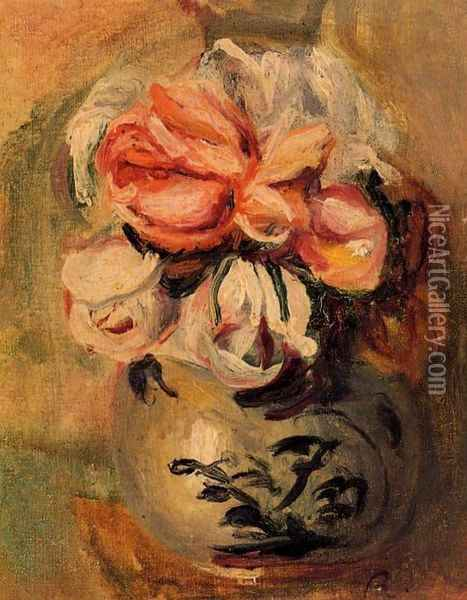 Vase of Flowers III Oil Painting - Pierre Auguste Renoir