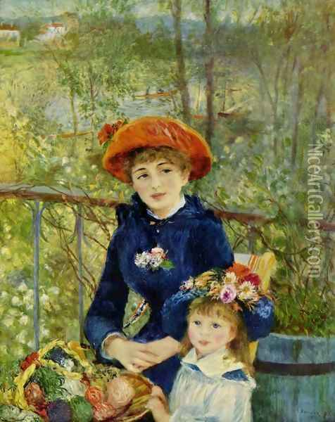 Two Sisters (On the Terrace) Oil Painting - Pierre Auguste Renoir