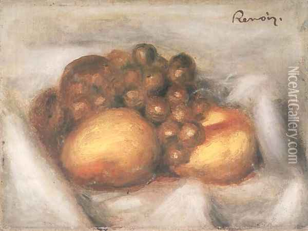 Still Life with Fruit 3 Oil Painting - Pierre Auguste Renoir