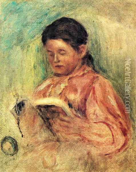 Woman Reading Oil Painting - Pierre Auguste Renoir