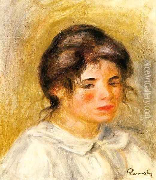 Portrait Of Gabrielle Oil Painting - Pierre Auguste Renoir