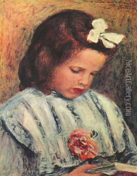 Girl Reading 2 Oil Painting - Pierre Auguste Renoir