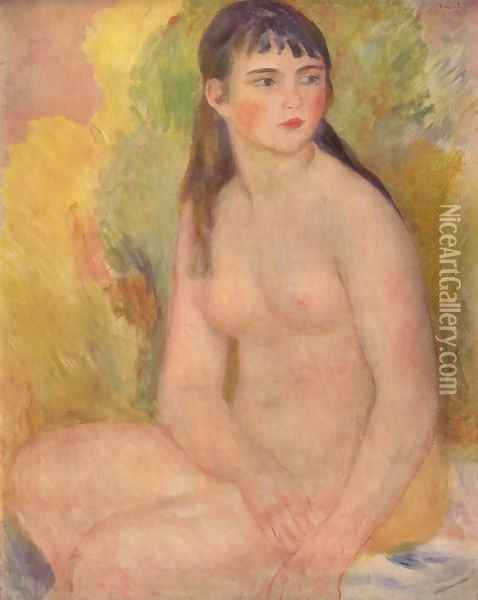 Nude female Oil Painting - Pierre Auguste Renoir
