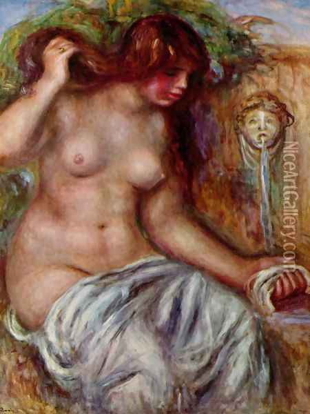 Woman at the Well Oil Painting - Pierre Auguste Renoir
