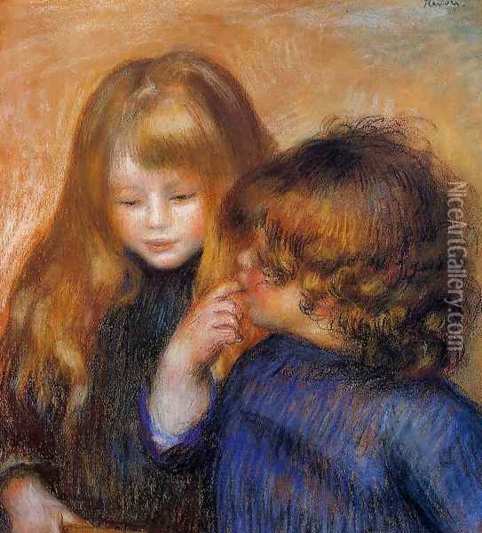 Jean and Coco (the artist's sons) Oil Painting - Pierre Auguste Renoir