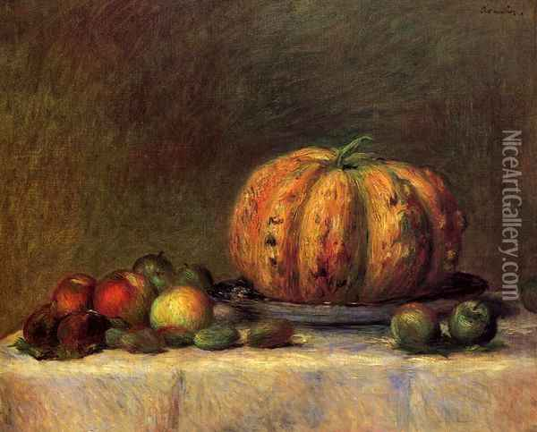 Still Life with Fruit 2 Oil Painting - Pierre Auguste Renoir