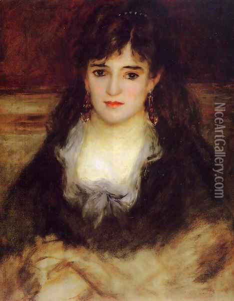 Portrait of a Woman (Nini Fish-Face) Oil Painting - Pierre Auguste Renoir