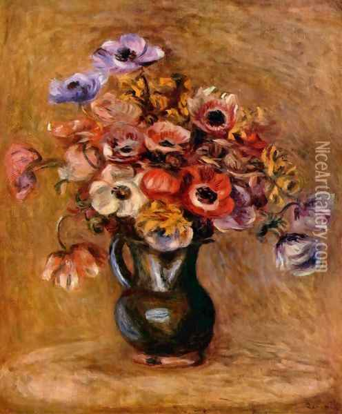 Still life with flowers Oil Painting - Pierre Auguste Renoir