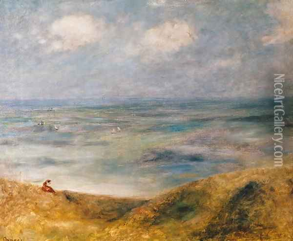 View of the Sea Guernsey Oil Painting - Pierre Auguste Renoir