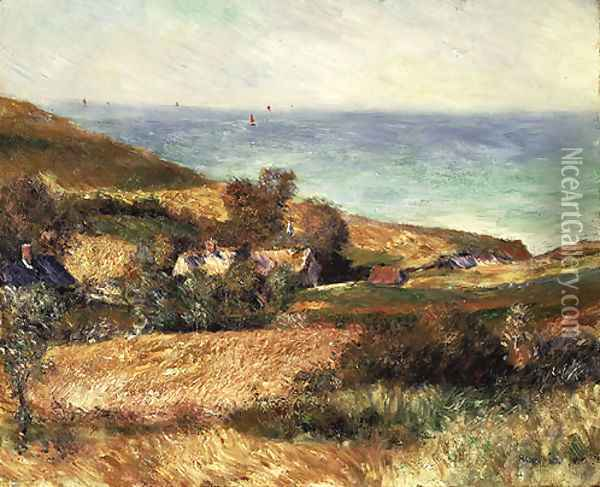 View of the Seacoast near Wargemont in Normandy 1880 Oil Painting - Pierre Auguste Renoir