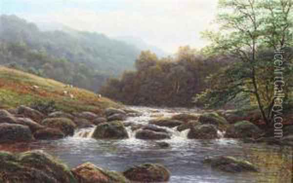 'bolton Abbey' & 'on The Rothay' Oil Painting - William Mellor