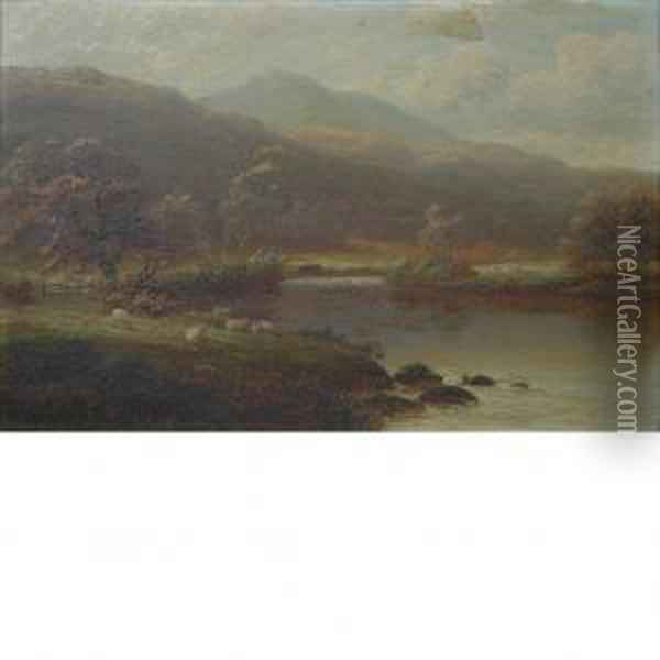 View In Borrowdale (cumberland) Oil Painting - William Mellor