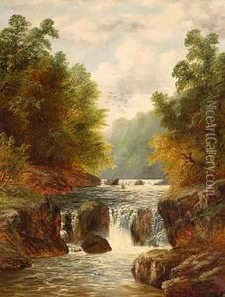 On The Arrow Oil Painting - William Mellor
