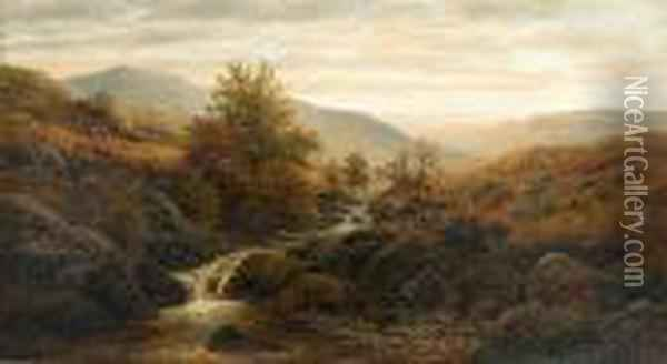 On The Keswick Hills Oil Painting - William Mellor
