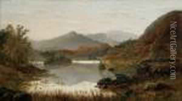 Rydal Water Oil Painting - William Mellor