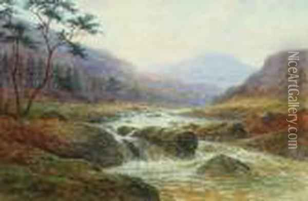 On The Wharfe And On The Llugwy Oil Painting - William Mellor