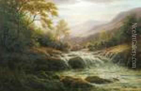 On The Llugwy Oil Painting - William Mellor