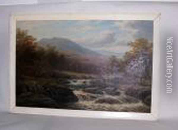 On The Langdale, Westmoreland Oil Painting - William Mellor