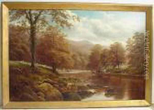 View On The Sharfe Oil Painting - William Mellor