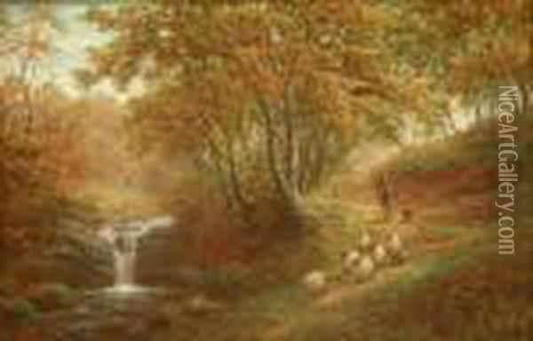 Fairy Dell Oil Painting - William Mellor