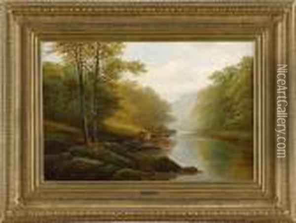 On The Wharfe Bolton Oil Painting - William Mellor