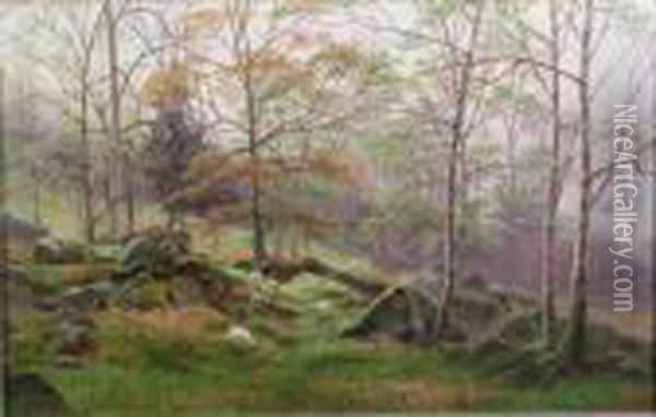 On The Winnage Oil Painting - William Mellor