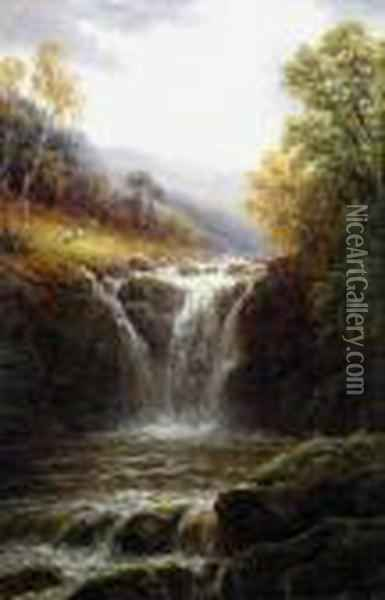 Thornton Ghyll Oil Painting - William Mellor