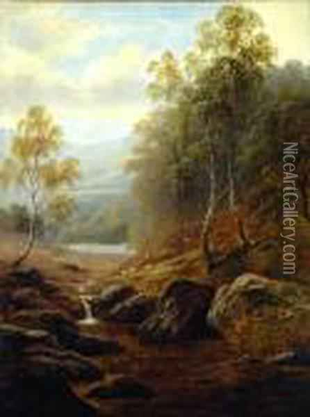 Mountain Stream Oil Painting - William Mellor