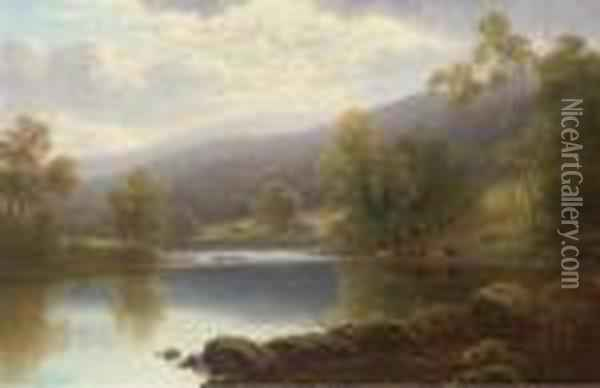 On The Warfe Oil Painting - William Mellor