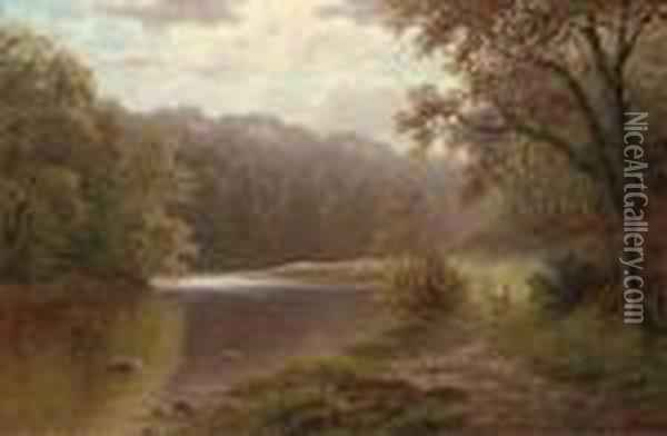 On The Nidd Oil Painting - William Mellor