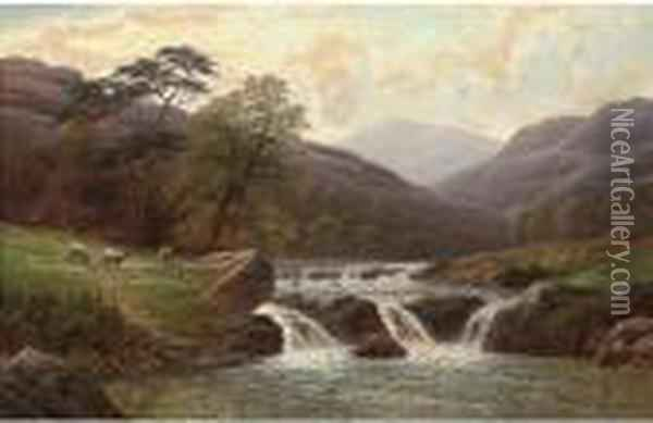 On The Conway Oil Painting - William Mellor