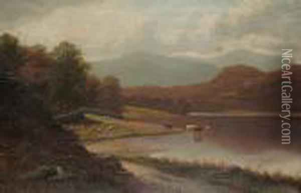 Rydal Lake, Westmoreland Oil Painting - William Mellor